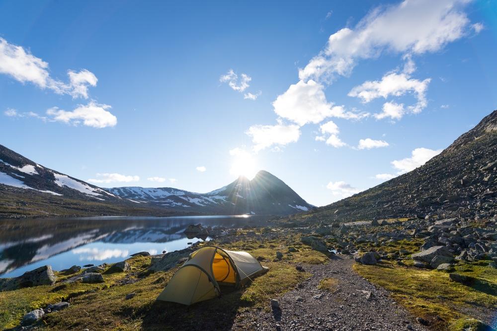 Teltplass 2 ble min favoritt, her et par kilometer øst for Olavsbu