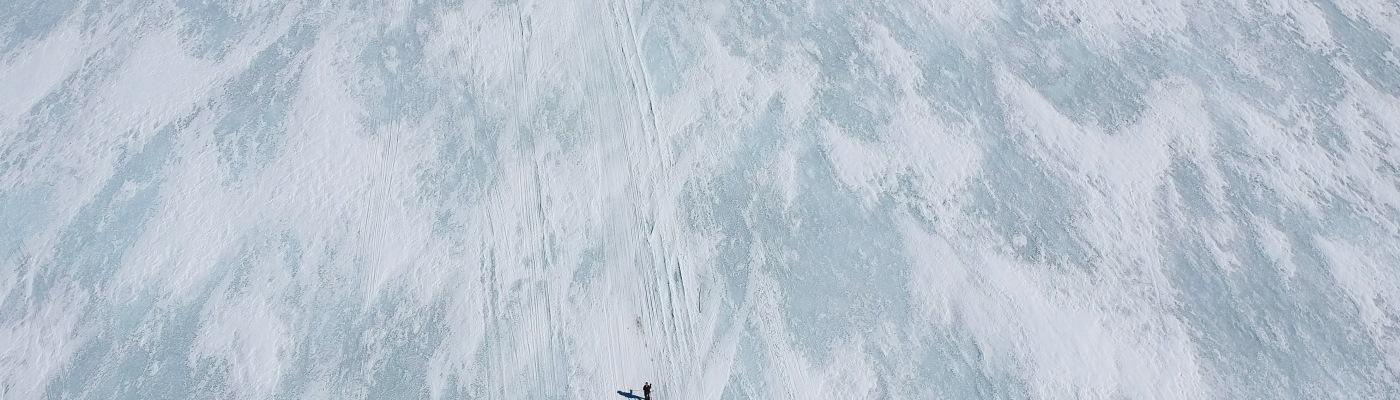 Alene på isen