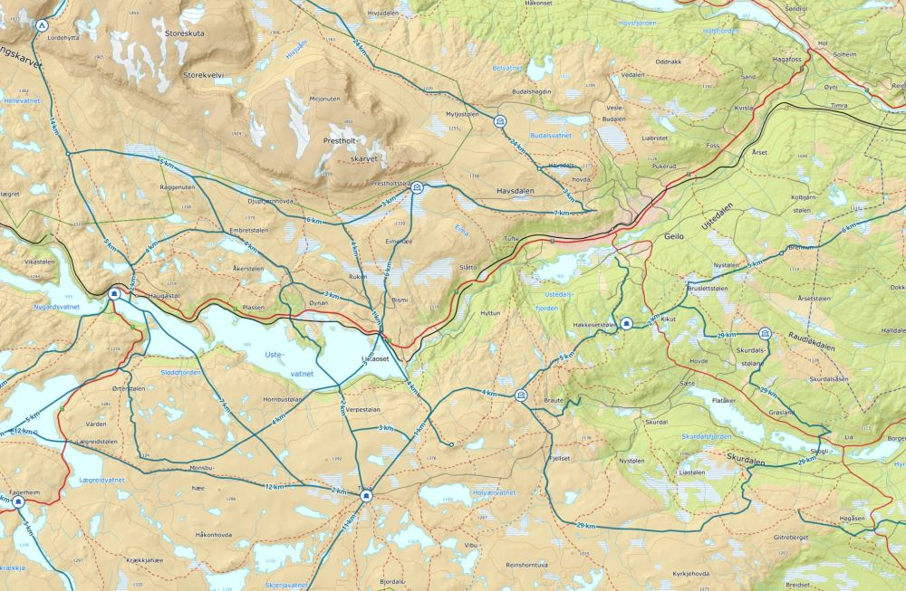 Hardangervidda ustaoset geilo skitur telttur vintertur påsketur
